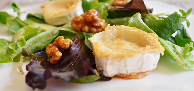 ensalada templada queso de cabra
